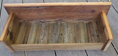 "Reclaimed Barn Wood Rustic Country Primitive Shelf  19"" Long"