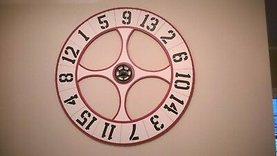 """Artist Made Roulette Wheel Wood Wall Hanging Huge 48"""" dia. LOCAL PICKUP ONLY"""