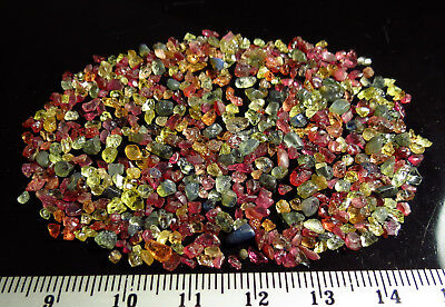 50ct FANCY COLOR SAPPHIRE - RUBY rough NATURAL MINI CRYSTAL LOTS blue green