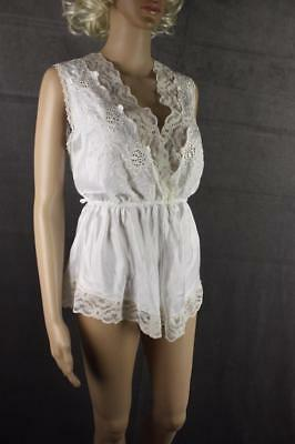 Vintage 70s 80s MISS DIOR White Teddy Lace Size Large Very Good Condition