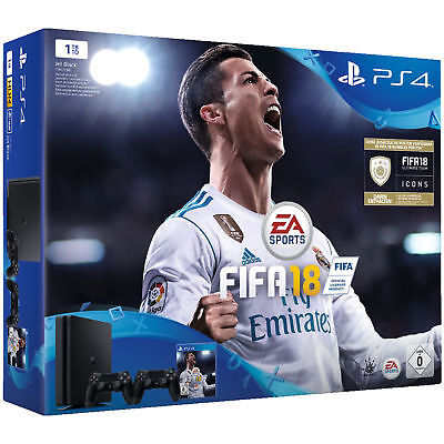 SONY PlayStation 4 1TB + FIFA 18 + 2. DualShock4 V2 Controller + PS Plus14T. PS4