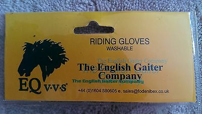 The English Gaiter Company Riding Gloves size XL BLACK