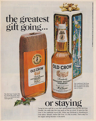 1968 Old Crow: Greatest Gift Going Vintage Print Ad