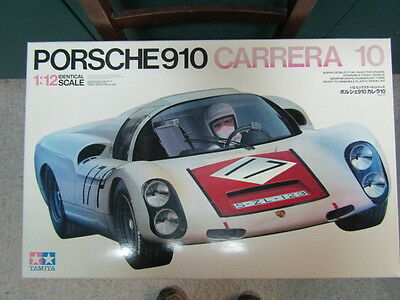 Tamiya Vintage 1:12 Scale Porsche 910 Carrera 10 - New - Great Big Scale Kit