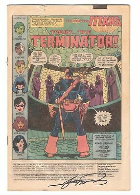 New Teen Titans #2 comic book signed George Perez auto no cover 1st Deathstroke