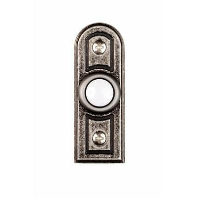 Hampton Bay Wired Lighted Door Bell Push Button, Antique Pewter   # 1001371138