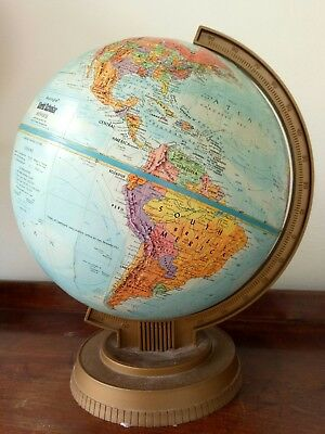 Colourful vintage Replogle world globe
