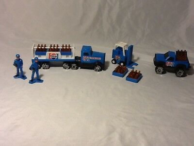 Awesome vintage Buddy L Pepsi Cola trucks forklift cases lot MUST SEE