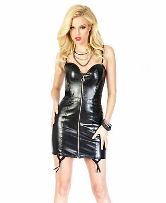 New Coquette D9258 Wet Look Lace Up Dress