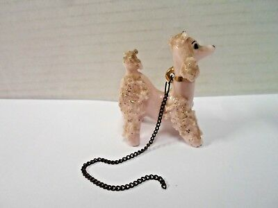 Antique Small Pink Porcelain Poodle