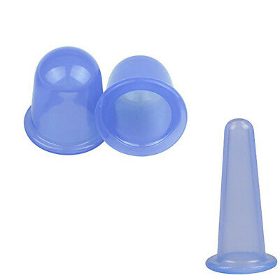 2x Set Silicone Massage Vacuum Body and Facial Cups Anti Cellulite Cupping Cup