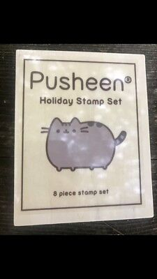 PUSHEEN BOX Cat Holiday Stamp Set Subscription Exclusive Winter 2016
