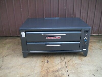 Blodgett 961 Natural Deck Gas Single Pizza Oven With  New Stones6In Or 26In Legs