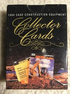 Vintage 1994 J I Case Construction Equipment in Action Collectors Cards 47 Cards