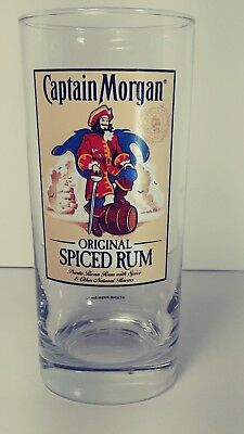 CAPTAIN MORGAN Puerto Rican Rico Spiced Rum Drinking Glass Tumbler 6&1/4""