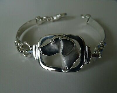 Sterling Silver German Short-haired Pointer Large Head Study Bracelet