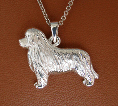 Small Sterling Silver Newfoundland Standing Study Pendant