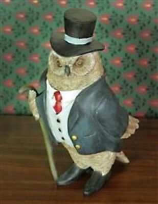 Victorian Trading Co Haberdashery Gentleman Owl Resin Figurine New Free Shipping