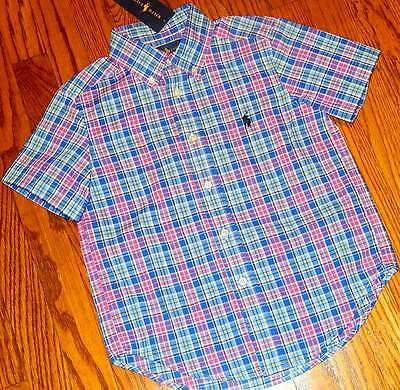 POLO RALPH LAUREN ORIGINAL TODDLERS BOYS BRAND NEW BLUE DRESS SHIRT Size 2T, NWT