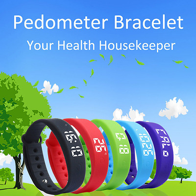 Kid Pedometer Step Counter Children Fitbit Style Activity Tracker Fitness Band