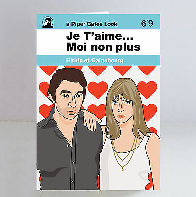 Serge Gainsbourg & Jane Birkin Ltd Edition Je T'aime A5 Greeting/ Birthday Card