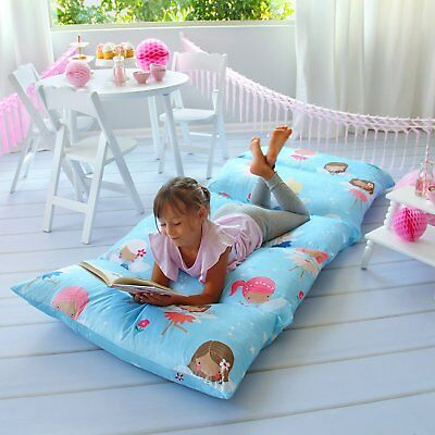 Fairy Themed Girl's Pillow Bed Cover Floor Pillow Lounger Cover