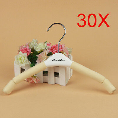 New Child S 32 CM Non-Slip Sponge Hanger Hook Wholesale Lots 30 PCS