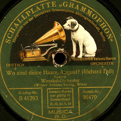 WENSKAT-ORCHESTER  Wo sind deine Haare, August / After I say I'm sorry     S6757