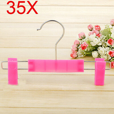 Child Rose Color S 22 CM Non-Slip PP Plastic Trouser Hook Wholesale Lots 35 PCS