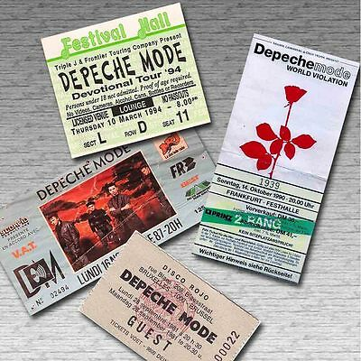 DEPECHE MODE Retro x4 Magnetic Concert Tickets Gift Pack