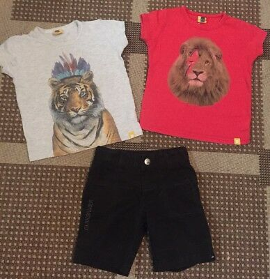 Rock Your Baby Boys Tees x 2 Size 2, And Boys Quiksilver Shorts Size 1 Bundle