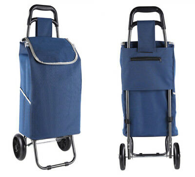 E150 Rugged Aluminium Luggage Trolley Hand Truck Folding Foldable Shopping Cart