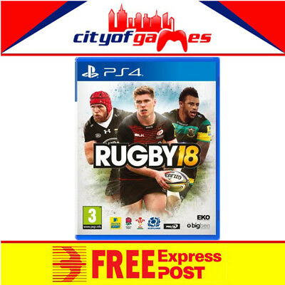 Rugby 18 PS4 Game New & Sealed Free Express Post In Stock