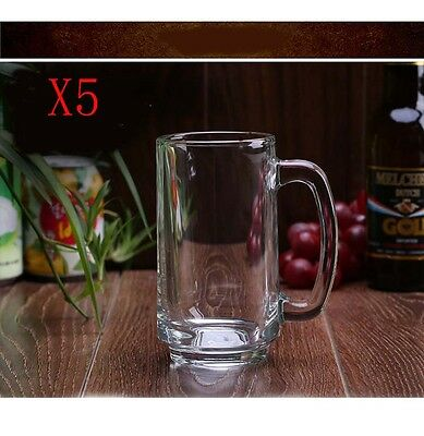 New 5X Capacity 357ML Height 140.5MM With A Handle Beer Wine Glass/Glassware %