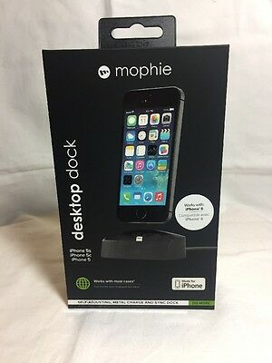 Mophie desktop charging dock For iPhone 8/7/6s/ 6/5s/5c/5/SE Black Retail Pack.