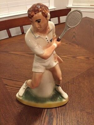 Vintage Tennis Ezra Brooks Empty Decanter 1973 Heritage China RH-42 HARD TO FIND