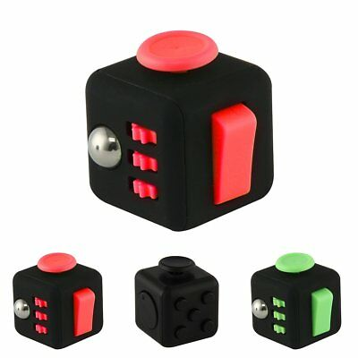 Hot Fun 6 Sided Fidget Cube Dice Anxiety Attention Stress Relief Xmas Adults Toy