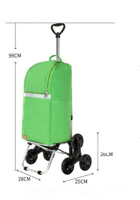E87 Rugged Aluminium Luggage Trolley Hand Truck Folding Foldable Shopping Cart