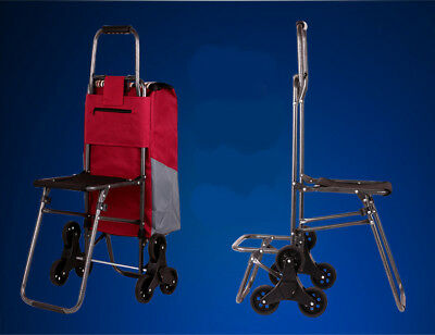 E172 Rugged Aluminium Luggage Trolley Hand Truck Folding Foldable Shopping Cart