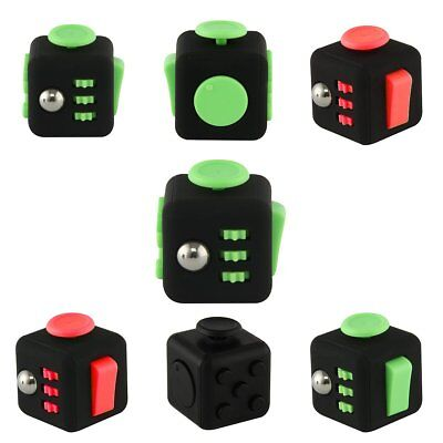 Fun 6 Sided Fidget Cube Dice Anxiety Attention Stress Relief Xmas Adults Toy