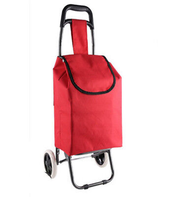 E148 Rugged Aluminium Luggage Trolley Hand Truck Folding Foldable Shopping Cart