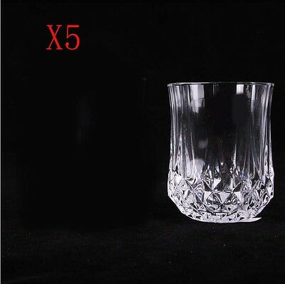 New 5X Capacity 230ML  Height  90MM  Transparent  Red Wine Glass/Glassware %