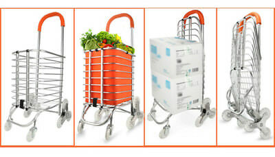 E66 Rugged Aluminium Luggage Trolley Hand Truck Folding Foldable Shopping Cart
