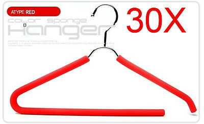Multifunction Red S 40 CM Rubber And Plastic Hanger Hook Wholesale Lots 30 PCS