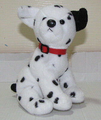 """Ty Beanie Baby 2.0 Hydrant Dalmation Red Collar 6"""" tush tag"""
