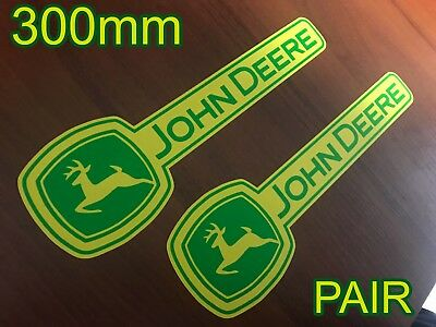 John Deere GREEN YELLOW Harvester Farmal Tractor Vinyl Decals Stickers pair