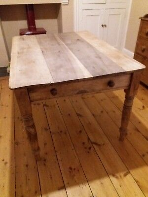 Antique Solid Pine Dining Table Farmhouse Country Pine Victorian