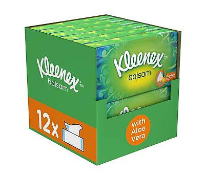 Kleenex Balsam Tissues Extra Soft Sensitive Skin Pack of 12 Boxes 768 Sheets NEW