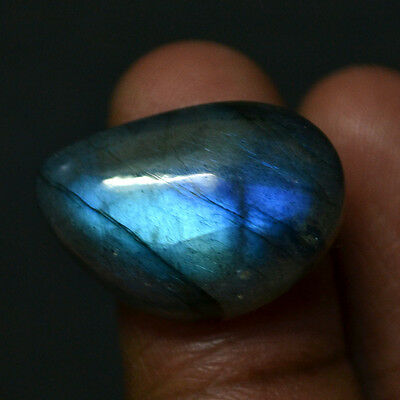 Cts. 18.85 Natural Labradorite Spectrolite Blue Sheen Cabochon Loose Gemstone