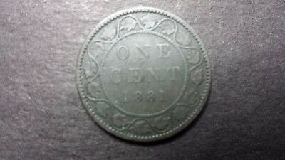 1881 Canada Large Cent Coin